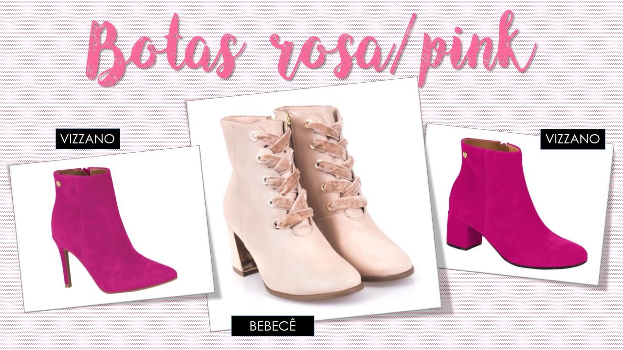 Botas Pink/rosa- TENDÊNCIAS DE BOTAS PARA O INVERNO 2018
