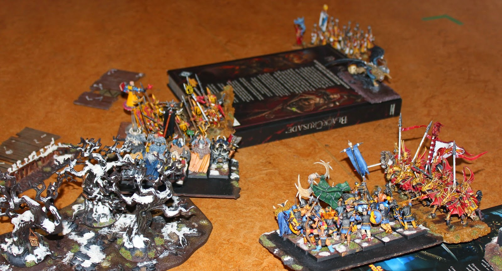 A Warhammer Fantasy Battle Report between High Elves and Warriors of Chaos.