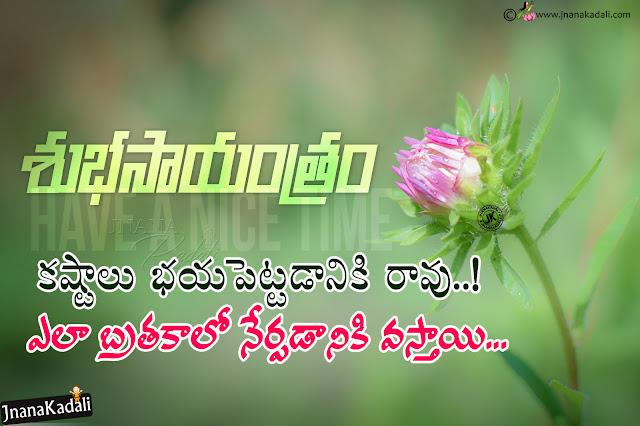 telugu quotes, good evening quotes in telugu, best telugu subhasayantam greetings, inspirational good evening quotes in telugu