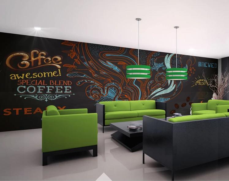 Tranh 3D Trang Trí Quán Cofee