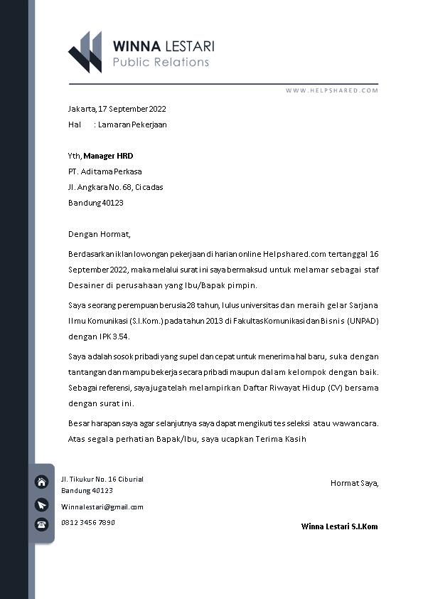 Kop Surat Lamaran Kerja 12