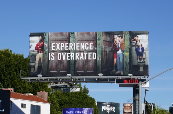 Sex Education Experience is overrated billboard