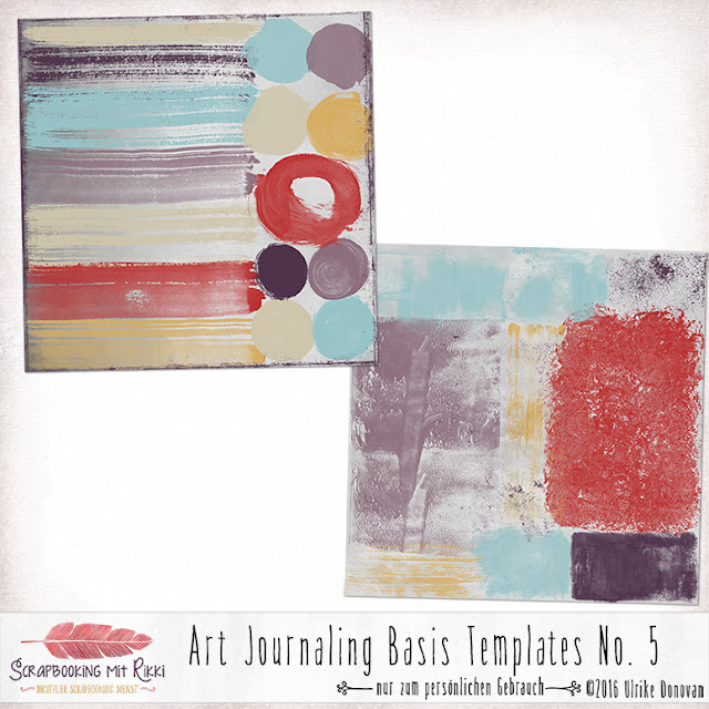 Art Journaling Basis Templates No. 5