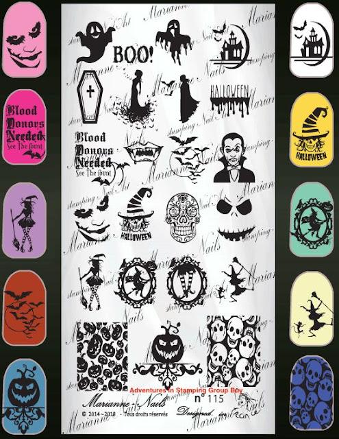 Lacquer Lockdown - Halloween, halloween nail art, halloween nail art stamping plates, nail art, nail art stamping ideas, holiday nail art, Marianne Nails, The Dark Night, Joker, skulls, evil pumpkins