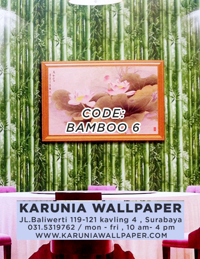 jual hiasan dinding wallpaper motif bambu