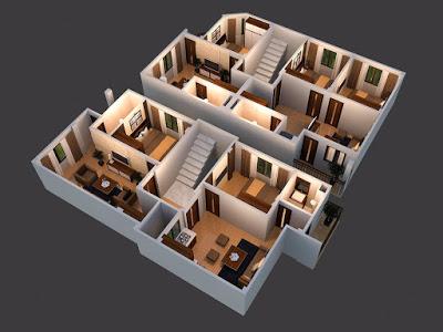thiết kế 3D chung cư mini Minh Đại Lộc 4