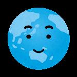 地球のイラスト(笑顔)