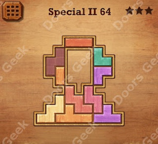Cheats, Solutions, Walkthrough for Wood Block Puzzle Special II Level 64