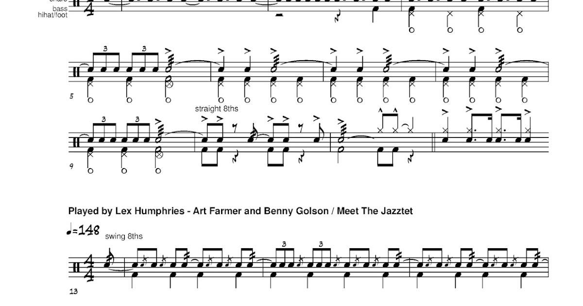 Cruise Ship Drummer!: Transcription: Blues March - two intros