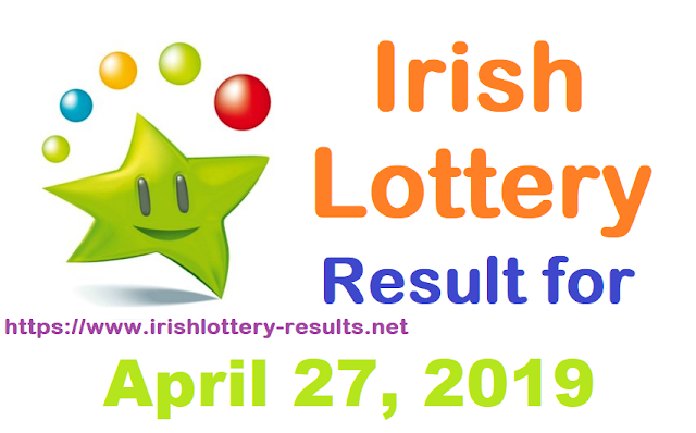 Irish Lottery Result for Saturday, April 27, 2019