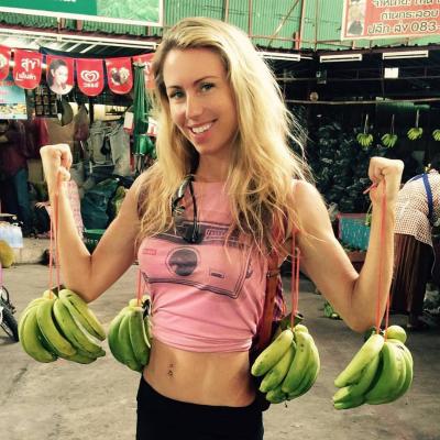 image Banana girl gets the goose