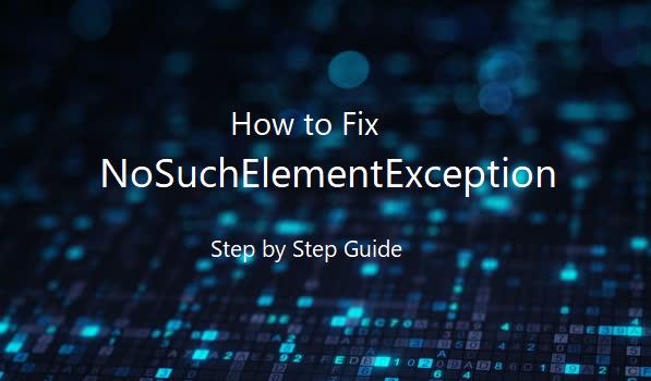 Exception in thread main java.util.NoSuchElementException