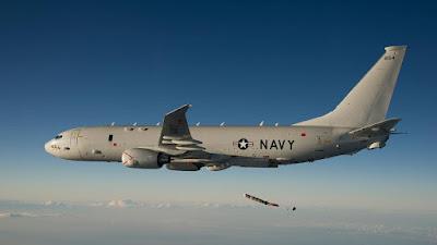 Avión de patrulla P-8 Poseidon de la Armada de EE.UU.