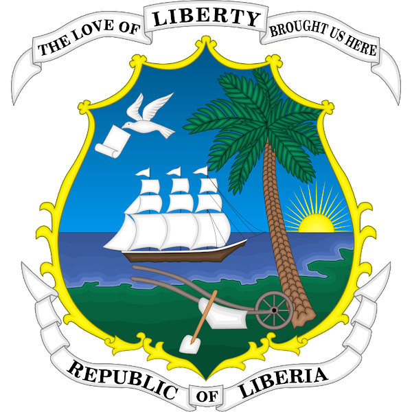 Logo Gambar Lambang Simbol Negara Liberia PNG JPG ukuran 600 px