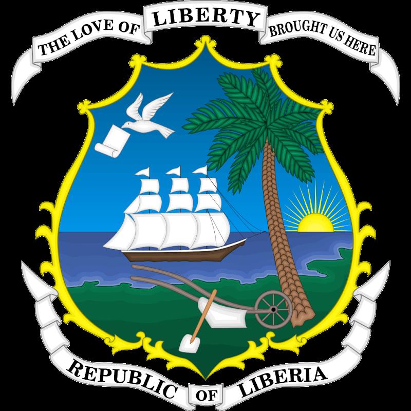 Logo Gambar Lambang Simbol Negara Liberia PNG JPG ukuran 800 px