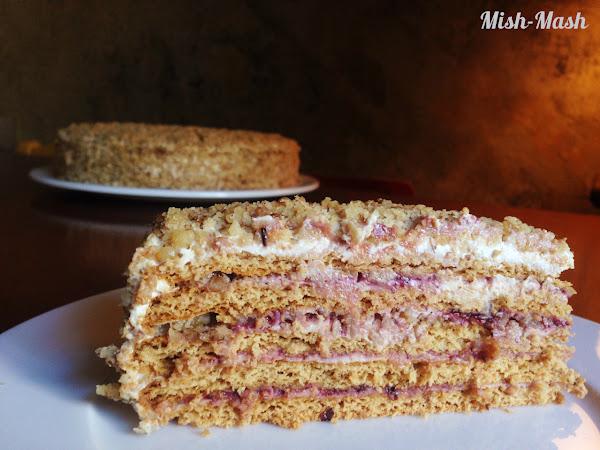 Френска селска торта с готови блатове