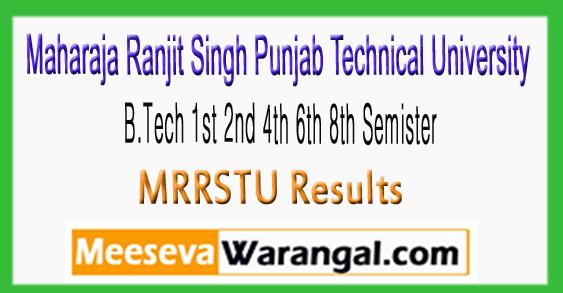 MRRSTU University B.Tech 1st 2nd 4th 6th 8th semister Result 2017