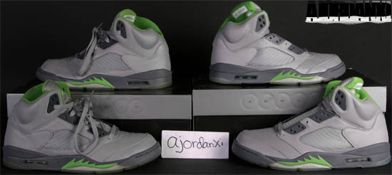 super popular 6ba27 3c56d Air Jordan V Retro Silver Green Bean-Flint Grey (2006)