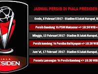 Jadwal Persib di Piala Presiden 2017 Live SCTV Dan Indosiar