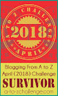 2018 A to Z Blogging Challenge Survivor
