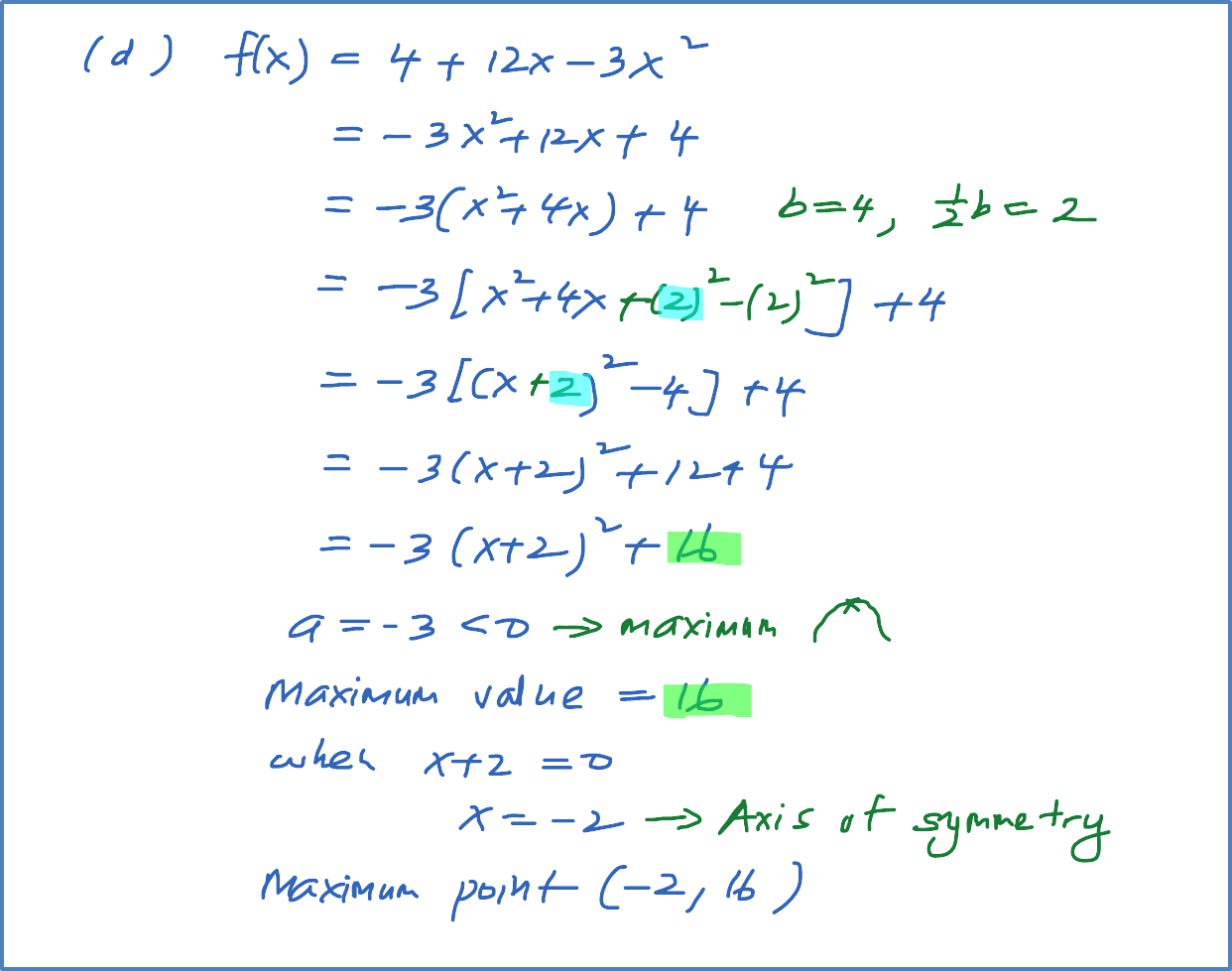 Example 1 Finding The Maximum And Minimum Points Of
