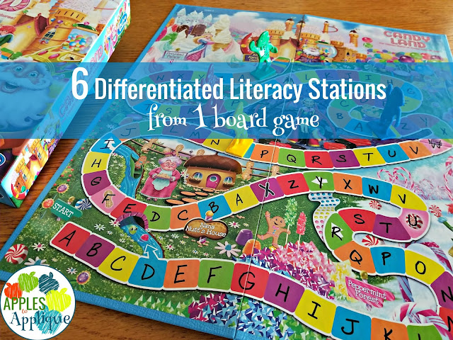 6 Differentiated Literacy Stations from One Board Game | Apples to Applique
