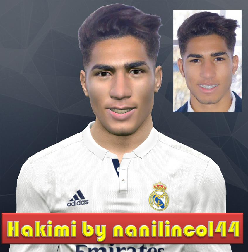 PES 2017 Achraf Hakimi (Real Madrid) Face by nanilincol44