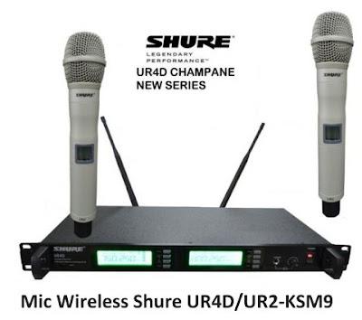 Mic Wireless Shure UR4D UR2-KSM9