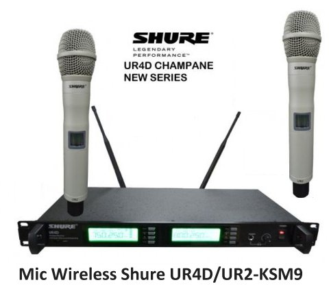 Mic Wireless Shure UR4D UR2-KSM9