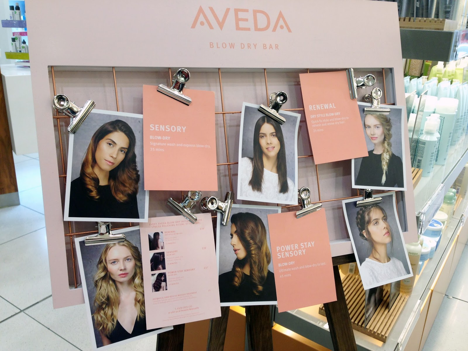 Hello Freckles Aveda Blow Dry Bar Newcastle Hair styling Beauty