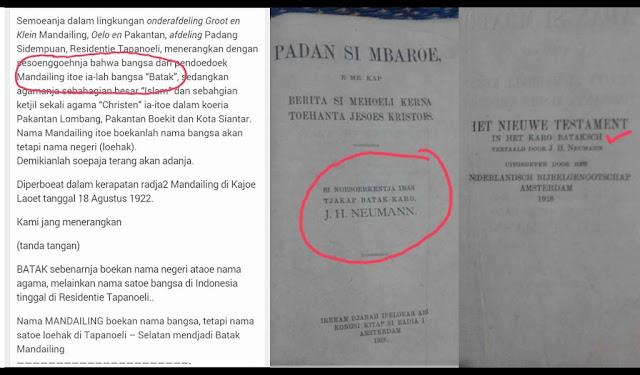 Inilah Bukti Kuat Bahwa Toba, Karo, Pakpak, Simalungun, Angkola/Mandailing Adalah Suku Batak