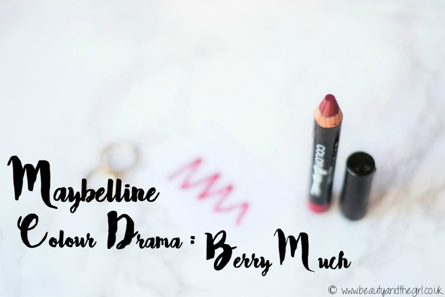 MAYBELLINE COLOUR DRAMA REVIEW: BERRY MUCH