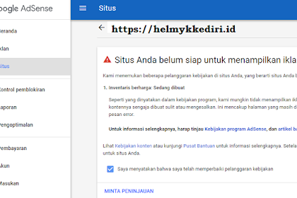 Aturan baru google adsense add site review makin sulit