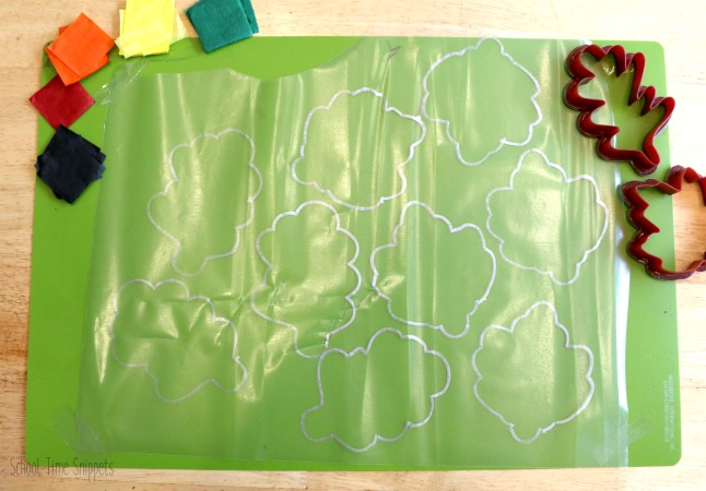 Fall Leaves Tissue Paper Suncatcher Craft