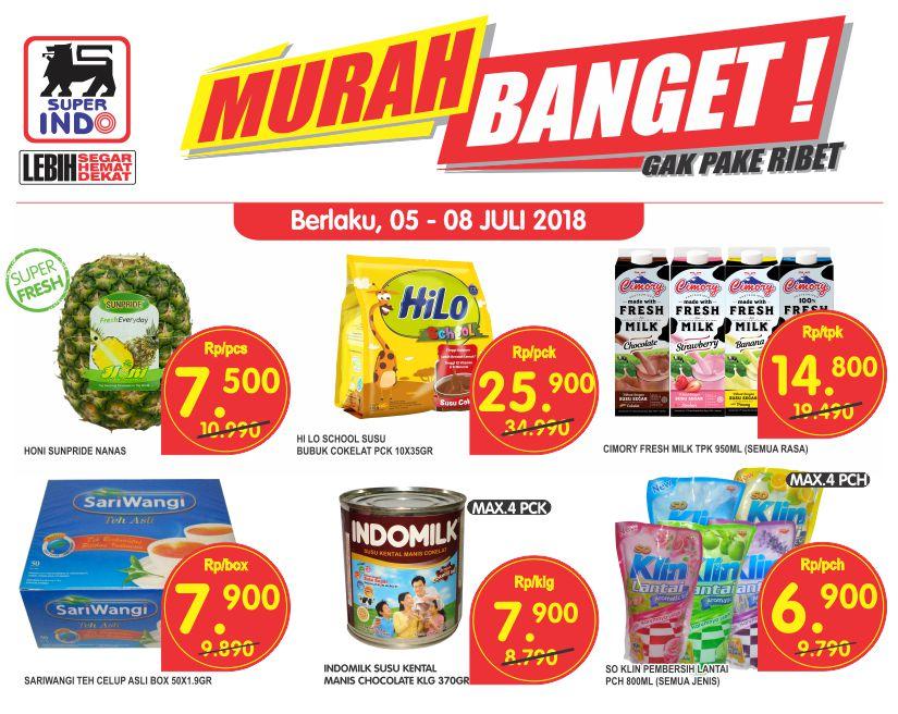 Superindo - Katalog Promo Murah Banget (05 - 08 JUuli 2018)
