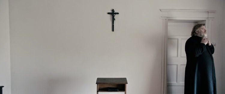 Father James struggles with the idea of sexual abuse in Calvary.