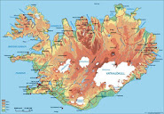 Mapa de Islandia (descargable)