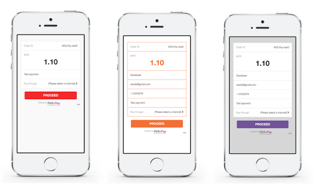 MOLPay Mobile XDK: flexible and customizable UI
