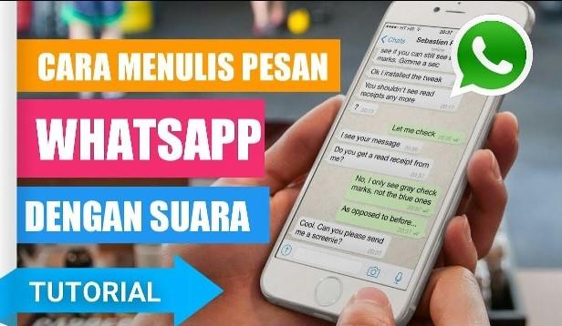 Cara mengetik pesan whatsapp dengan suara, menulis pesan whatsapp dengan suara