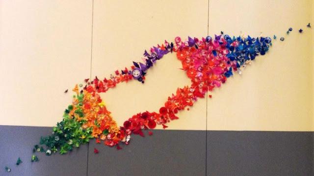 8 Ide Menghias Kamar Jadi Indah Dengan Kertas Origami, Cukup Potong Dan Bentuk Sendiri