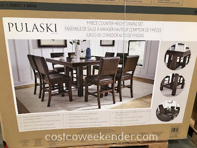 Costco 1325667 - Pulaski 9-piece Counter Height Dining Set: great for any home