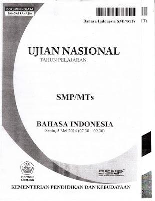 un bahasa indonesia smp 2018