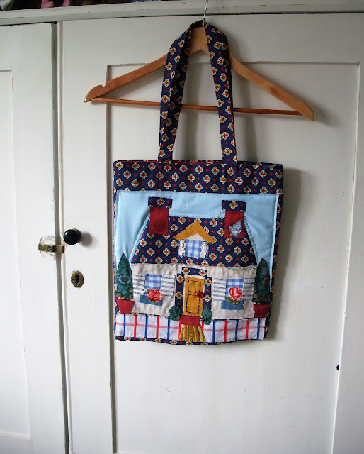 The Cottage Applique Book Bag by karen vallerius