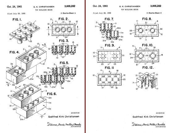 LEGO Building Bricks Patent