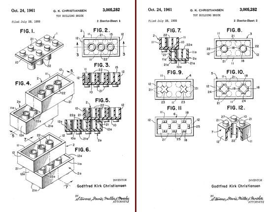 LEGO Building Bricks Patent