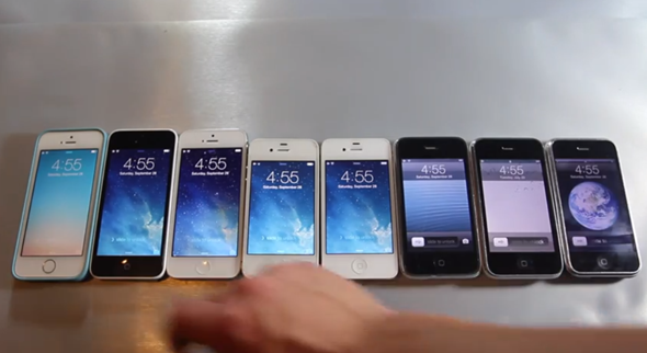 All iPhones go head to head in a speed comparison video