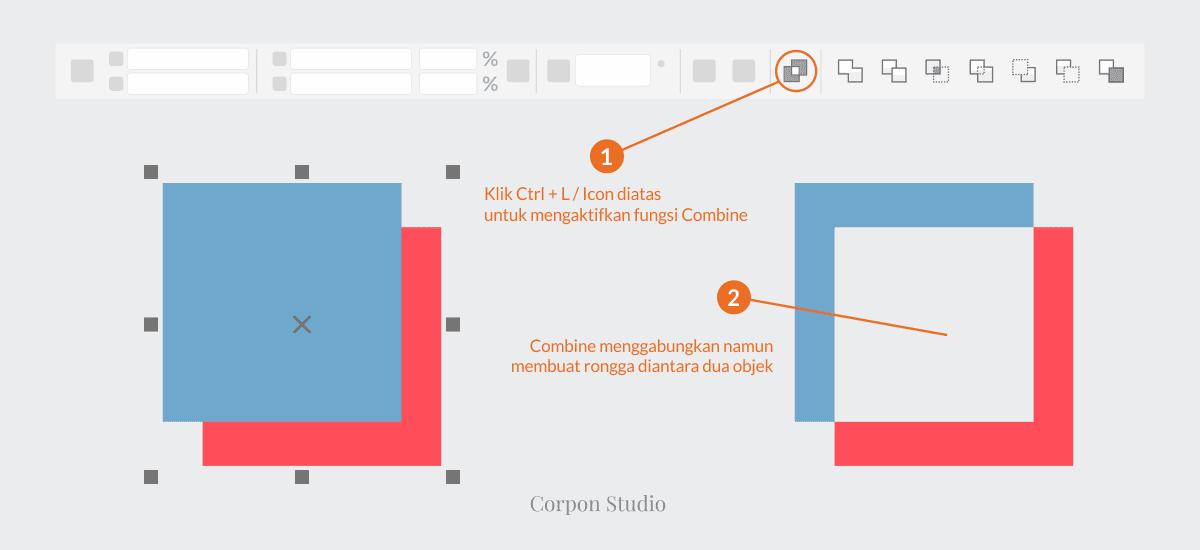 Mengenail Fungsi Tehnik Shaping Pada Coreldraw - Weild dan Combine