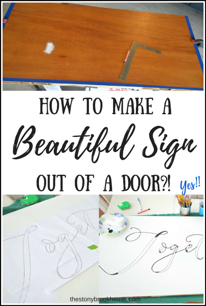 How To Make A Beautiful Sign Out Of A Door