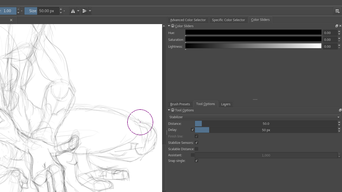 Notes on sketching with krita part 2