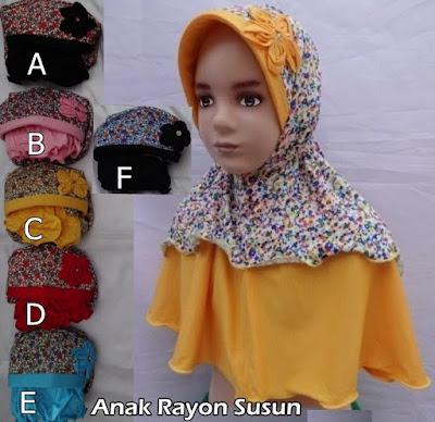 Grosir Jilbab Anak Rayon Susun